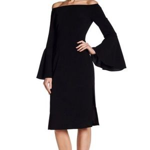 "Keepsake""Harmony""Bell Sleeve Sheath Dress (Black!)"